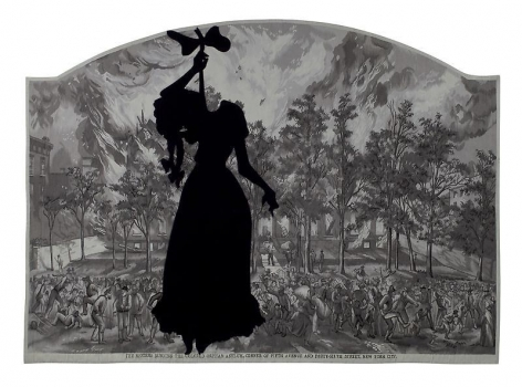 KARA WALKER A Warm Summer Evening in 1863, 2008