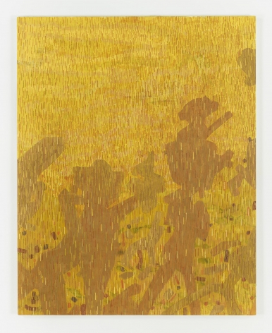 , LEE MULLICAN, Caravan to the Sun, 1957, Oil on canvas, 50 x 40 in.
