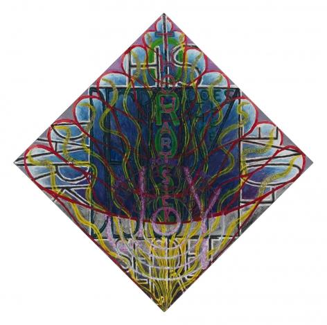 , PHILIP HANSON, O Rose thou art sick (Blake), 2015, oil on canvas, 25 1/4 x 25 1/4 in., 64.1 x 64.1 cm