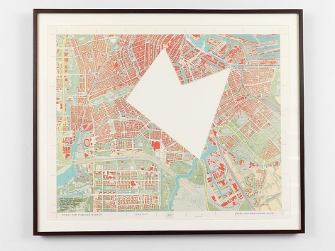 SOL LEWITT R647: Map of Amsterdam with the area between the Dam, Art and Project, Utrechtse-Brug, Zeeburgerstraat and Achtergracht removed