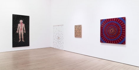 , Gallery 2.2 (l-r): Naked From the Inside, Big Bang (reverse side), X Will Fade and Kaboom