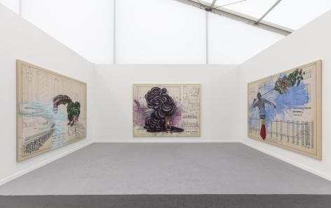 Installation view, Firelei Báez in Diálogos, Frieze New York, May 1 - 5, 2019