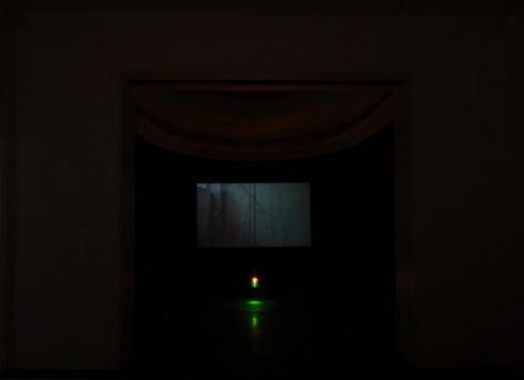 APICHATPONG WEERASETHAKUL, Morakot (Emerald) 莫拉克(翡翠色), Installation view, James Cohan Gallery, Shanghai, 2010