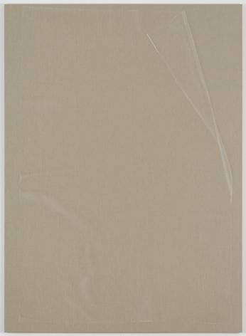 , HELENE APPELPlastic Sheet, 2014Watercolor on linen86 9/16 x 62 15/16 in. (220 x 160 cm)