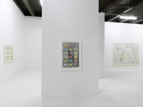 Installation view,  Simon Evans™, Not Not Knocking On Heaven's Door, Palais de Tokyo, Paris, France, February 18-May 15, 2016,