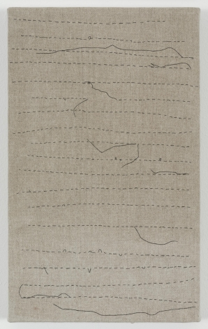 , HELENE APPELBlack Thread Stitching,2013Acrylic on linen12 15/16 x 7 13/16 in. (33 x 20 cm)