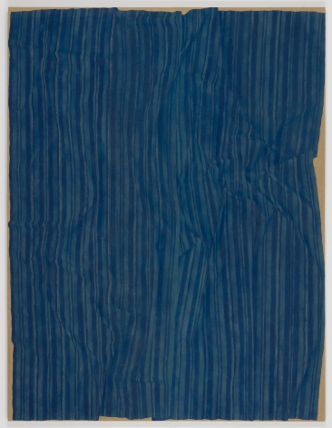 , HELENE APPEL Loosely Laid Out Large Blue Fabric, 2013 Watercolor on burlap 127 1/2 x 97 5/8 in. (324 x 248 cm)