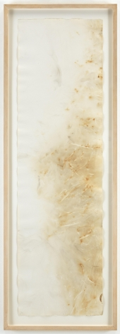, JOHN CAGE River Rocks and Smoke, 4/13/90, #19, 1990 Watercolor on Arches cold press paper prepared with fire and smoke 52.5 x 15 inches (133.3 x 38.1 cm)