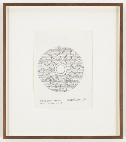 ROBERT SMITHSON Smoke Tree Sprawl with Cactus Circle