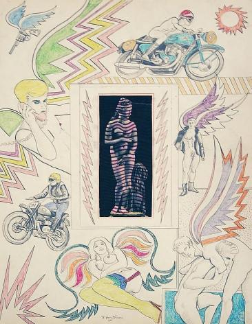 ROBERT SMITHSON Untitled [Venus with lightning bolts], 1964