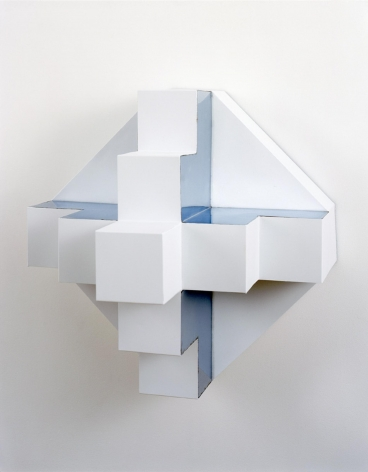, ROBERT SMITHSON, Untitlted [Ziggurat], 1966, Paint on metal, 23 x 23 x 19 in.