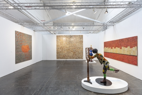 Installation view, James Cohan at 1-54 Contemporary African Art Fair, New York, May 2 - 5, 2019