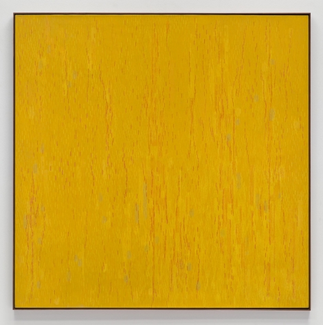 , LEE MULLICAN, Meditation on the Vertical, 1962, Oil on canvas, 75 x 75 in.