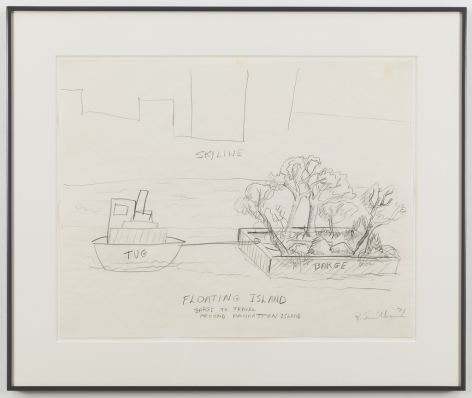 Floating Island - Barge to Travel Around Manhatten Island, 1971