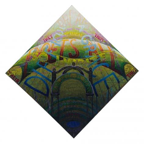 , PHILIP HANSON, I reckon when I count it all (Dickinson), 2015, Oil on canvas, 34 x 34 in., 86.4 x 86.4 cm