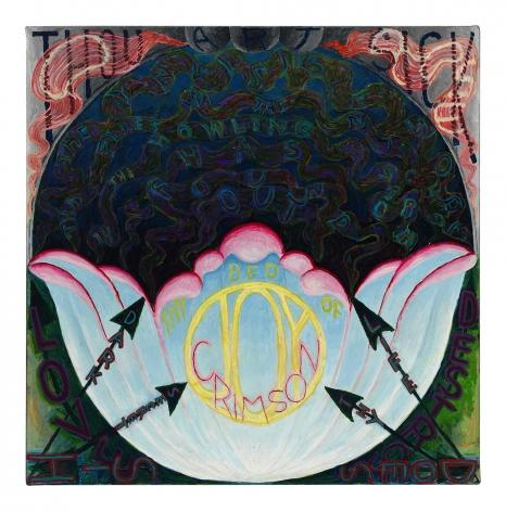 , PHILIP HANSON, O Rose thou art sick (Blake), 2015, oil on canvas, 18 x 18 in., 45.7 x 45.7 cm