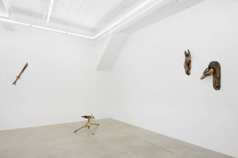 Installation view, Tuan Andrew Nguyen,A Lotus in a Sea of Fire,291 Grand Street,February28 - May3, 2020