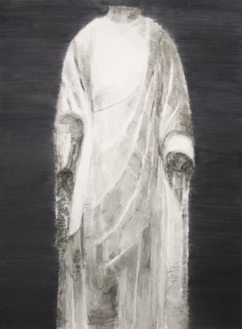 , SHI ZHIYING, White Marble Buddha No.5, 2014, Oil on canvas, 94.5 x 70.9 in (240 x 180 cm)