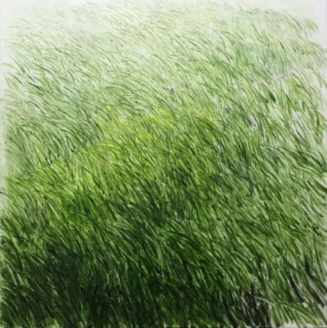 , SHI ZHIYING, Lawn No.10 (草坪 10), oil on canvas, 78 11/16 x 78 11/16 in.