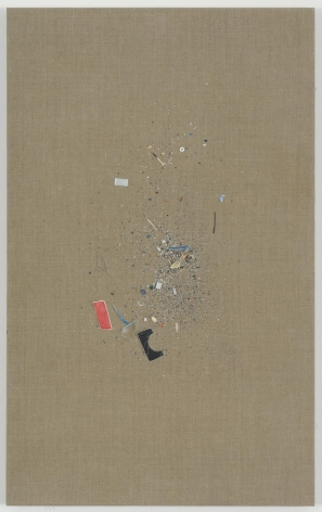 , HELENE APPEL Untitled (Sweepings), 2014 Oil and acrylic on linen 44 7/16 x 27 1/2 in. (113 x 70 cm)
