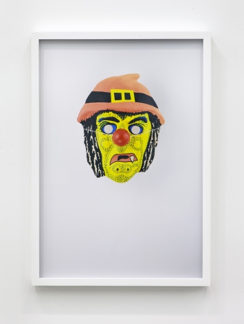 Jamie Isenstein Masks Wearing Masks (Yellow Witch Clown), 2015