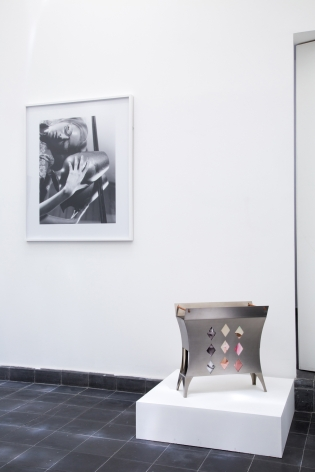 A Lampshade, Two Rugs and Child Chairs, a Magazine Rack, Some Vases and Ashtrays, and a Decorated Poncho,House of Gaga, Mexico CityMay 23 -August 29, 2015