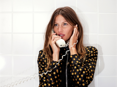Roe Ethridge Gisele on the Phone, 2013