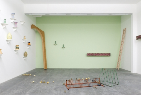 Forty and Forty (with Klara Lidén and Manfred Pernice),Galerie Neu, BerlinSeptember 17 -November 1, 2014