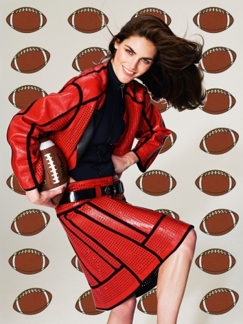 Roe Ethridge Hilary with Footballs, 2013