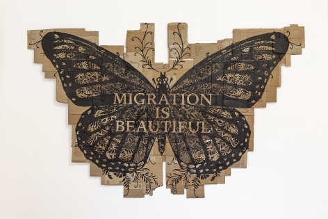 Andrea Bowers Papillon Monarque (Migration Is Beautiful), 2015