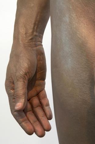 Frank BensonHuman Statue(DETAIL), 2009Bronze72 x 22 x 13 in (1.83 m x 55.88 cm x 33.02 cm)