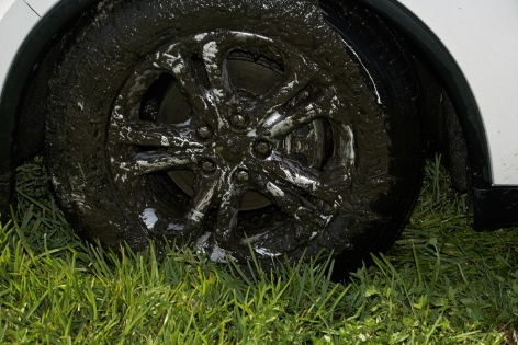 Roe Ethridge Muck Covered Wheel, 2011