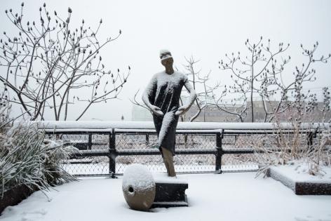 Frank BensonHuman Statue (Jessie), 2011Bronze, marble79 1/4 x 12 1/2 x 20 in (201 cm x 31.75 cm x 50.80 cm)