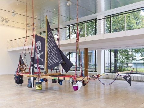 Andrea Bowers Radical Feminist Pirate Ship Tree Sitting Platform, 2013