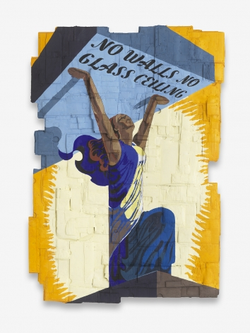 Andrea Bowers No Walls No Glass Ceiling (Originally a Celebratory Poster for the Liberation, of France during World War II, illustrated by Philippe Grach, 1944), 2018