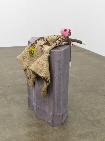 Liz MagorOilmen's Bonspiel, 2017Textile, wool, polymerized gypsum39 1/4 x 36 1/2 x 28 1/2 in (99.7 x 92.7 x 72.4 cm)