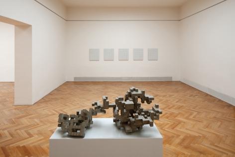 Sam Lewitt/Cheyney Thompson.Grid.Gradient.Drunken Walks.,The Brno House of Arts, Brno