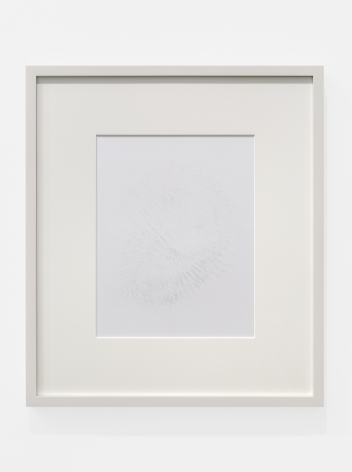 Cheyney ThompsonAggregateDeadThing (RedBlueYellow)(30000steps(view3)): copper, 2016Silverpoint on clay-coated paper image size: 9 1/4 x 7 1/4 in (23.5 x 18.4 cm); frame: 15 3/4 x 13 3/4 x 3/4 in (40 x 34.9 x 1.9 cm)