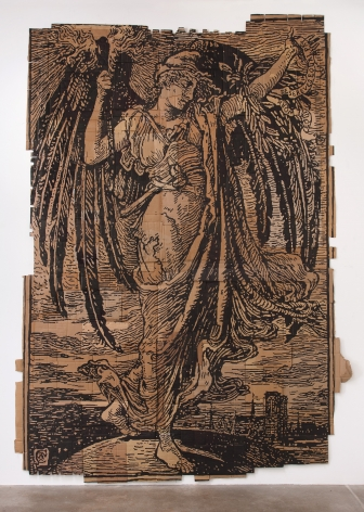 Andrea Bowers Memory of the Paris Commune Revised to Equal Work Deserves Equal Pay, (Illustration by Walter Crane), 2013