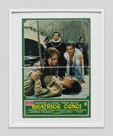 Italian movie poster for the film Beatrice Cenci, 1969