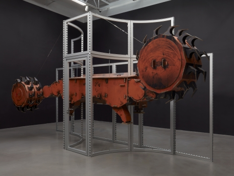 Simon Denny, Joy Global semi-autonomous longwall coal mining 7LS8 shearer cardboard display