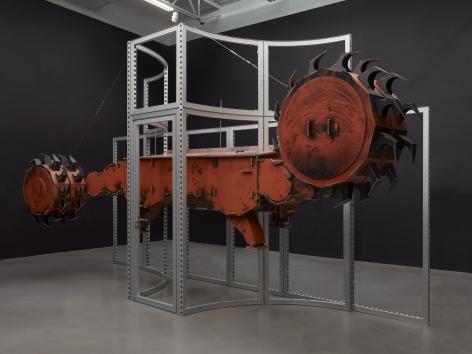 Simon Denny, Joy Global semi-autonomous longwall coal mining 7LS8 shearer cardboard display
