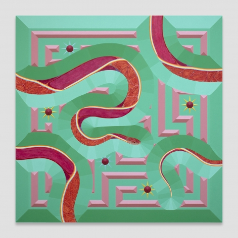 Greg Parma Smith, Red Snake Scene in Felicitous Continuity