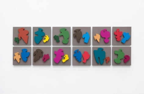 Allan McCollum The Shapes Project: Collection of Twelve Perfect Couples