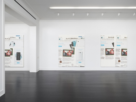 Wade Guyton The New York Times Paintings: November – December 2015