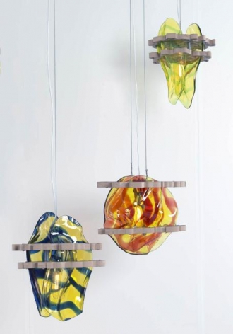 Untitled 2005 Set of three glass lamps