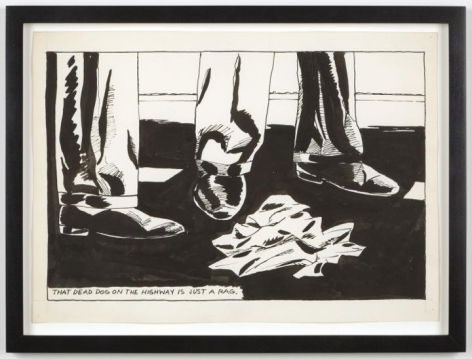 Raymond Pettibon No Title (That dead dog)