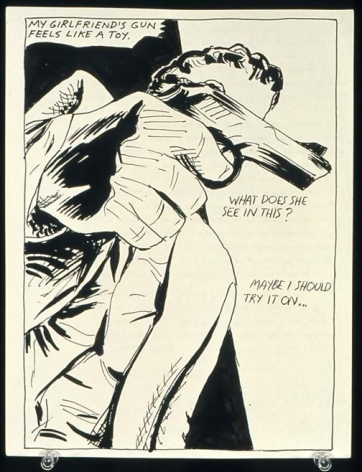 Raymond Pettibon No Title (My girlfriend's gun)