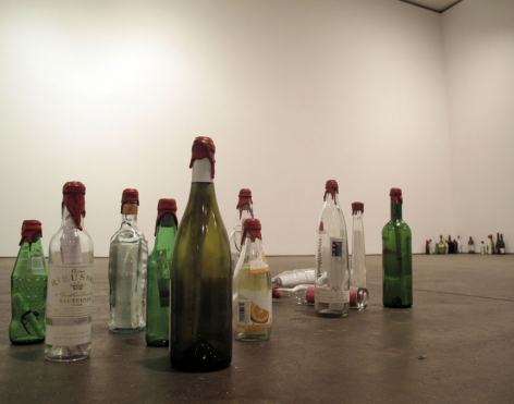 Review 2012 Assortment of bottles, ink, paper, red sealing wax