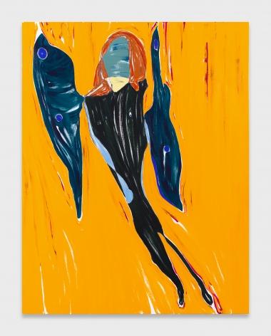 Nicola Tyson, Self-Portrait: Wings
